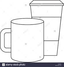 Ceramic And Paper Coffee Cup Empty Template For Corporate Identity