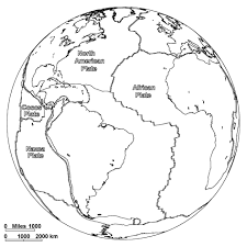 Globe World Map Coloring Page Free To Print For Kids