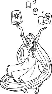 Rapunzel Lanterns Coloring Page