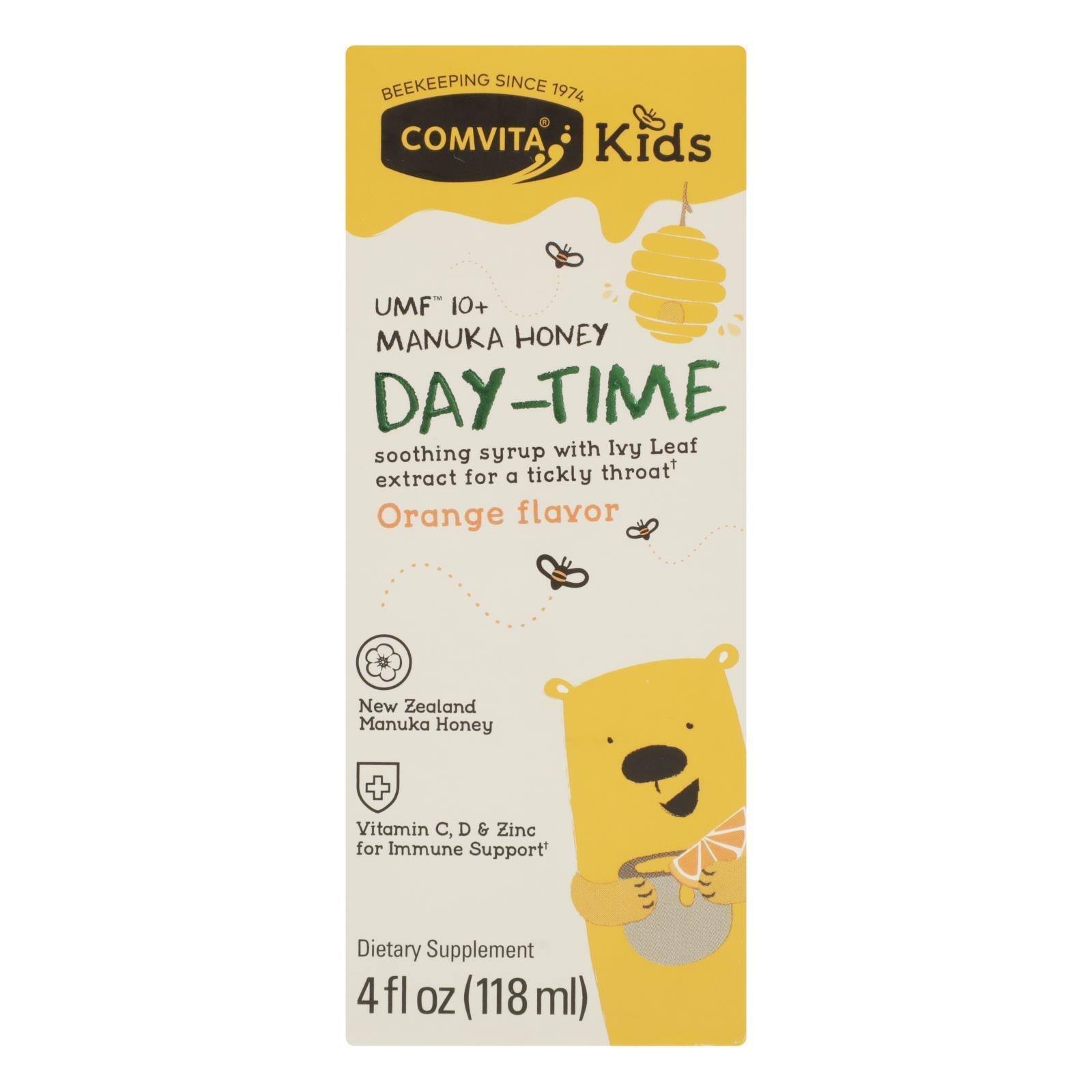 Comvita Kids Soothing Syrup, Day-Time, Orange Flavor - 4 fl oz