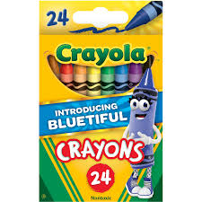 Crayola Bathtub Crayons 18 Vibrant Colors by Crayola Classic Crayon Featuring New Blue Bluetiful 24 Count