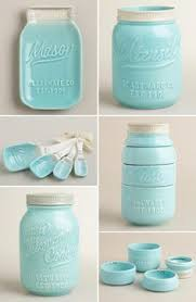 LOVE These Ceramic Mason Jar Kitchen Accessories I Have The Measuring Cup But Want Rest
