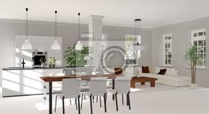 wohnzimmer esszimmer küche bilder myloview