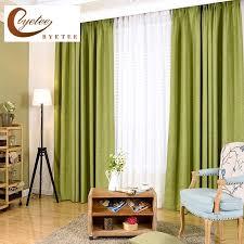 byetee baumwolle leinen vorhang stoffe fenster für schlafzimmer wohnzimmer einfarbig blackout küche vorhänge moderne vorhänge