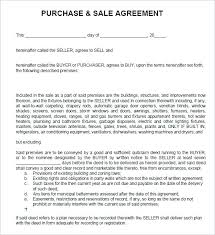 Real Estate Purchase And Sale Agreement Template Sample 8 Examples Selling Business Contract Free Sales Image 1 Download