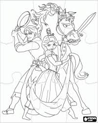 Disney Tangled Pascal Coloring Pages