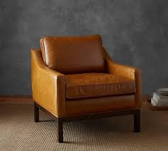 Pottery Barn Charleston Sofa Dimensions by Irving Leather Armchair With Nailheads Pottery Barn I Want This