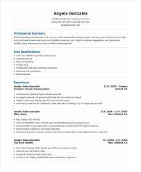 Jewelry Sales Associate Resume