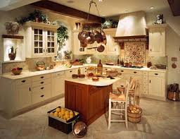 Perfect Kitchen Decor Using White L Shape Cabinet Also Charming Chairs