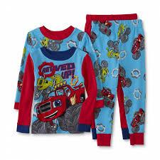 100 Monster Truck Pajamas Nickelodeon Blaze And The Machine Toddler Boys 2Pairs