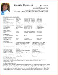 Beginner Actor Resume Sample Acting Example No Experience Talent Template