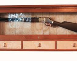 Wooden Gun Cabinet With Etched Glass by Gun Display Case Etsy