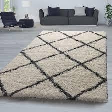möbel wohnen teppich wohnzimmer grau anthrazit hochflor