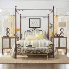 Twin Metal Canopy Bed Pewter With Curtains by Metal Beds For Less Overstock Com