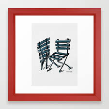 Twin Chairs Framed Art Print