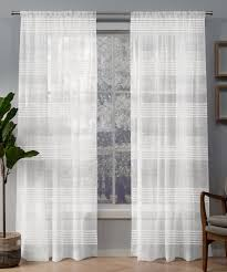 100 Residence Curtains White Seto LightFiltering Curtain Panel Set Of Two