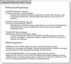 How To Focus A Resume On Relevant Job Experience Dummies Cover Letter Printable Examples