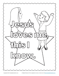 Adult Bible Coloring Pages For Kids Jesus And The Children Loves Me Sheets