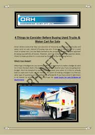 100 Budget Trucks For Sale 4 Things To Consider Before Buying Used Water Cart For