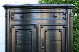 Painting Wood Furniture High Gloss Black