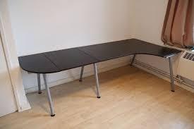 Ikea Bekant L Shaped Desk by Bargain Quick Sale Large Black Ikea Galant Bekant Office