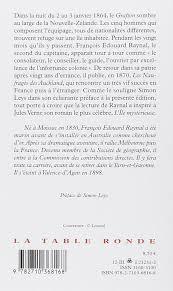la chambre des officiers résumé amazon fr les naufragés des auckland françois édouard raynal