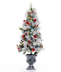 4 Ft Pre Lit Potted Christmas Tree by Trimsetter Holiday U0026 Christmas Trees Dillards