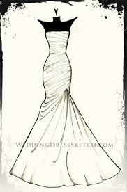 Custom Wedding Dress Gown Sketch Fashion Drawing Weddingdresssketch