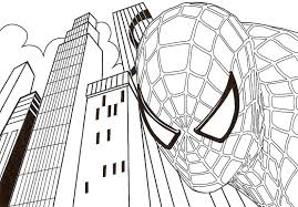 Download Coloring Pages Spiderman Design 25854 Coloringpagefree Pictures