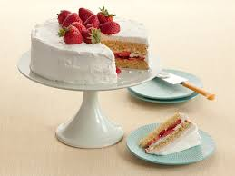 then you a slice and it s actually whipped cream frosting and the cake has a hint of lemon Get the recipe for diner style strawberry shortcake