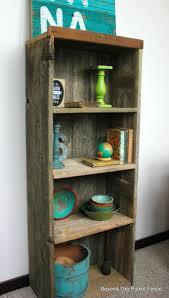 Reclaimed Wood Bookshelf DIY Weathered Beyond The Picket Fence