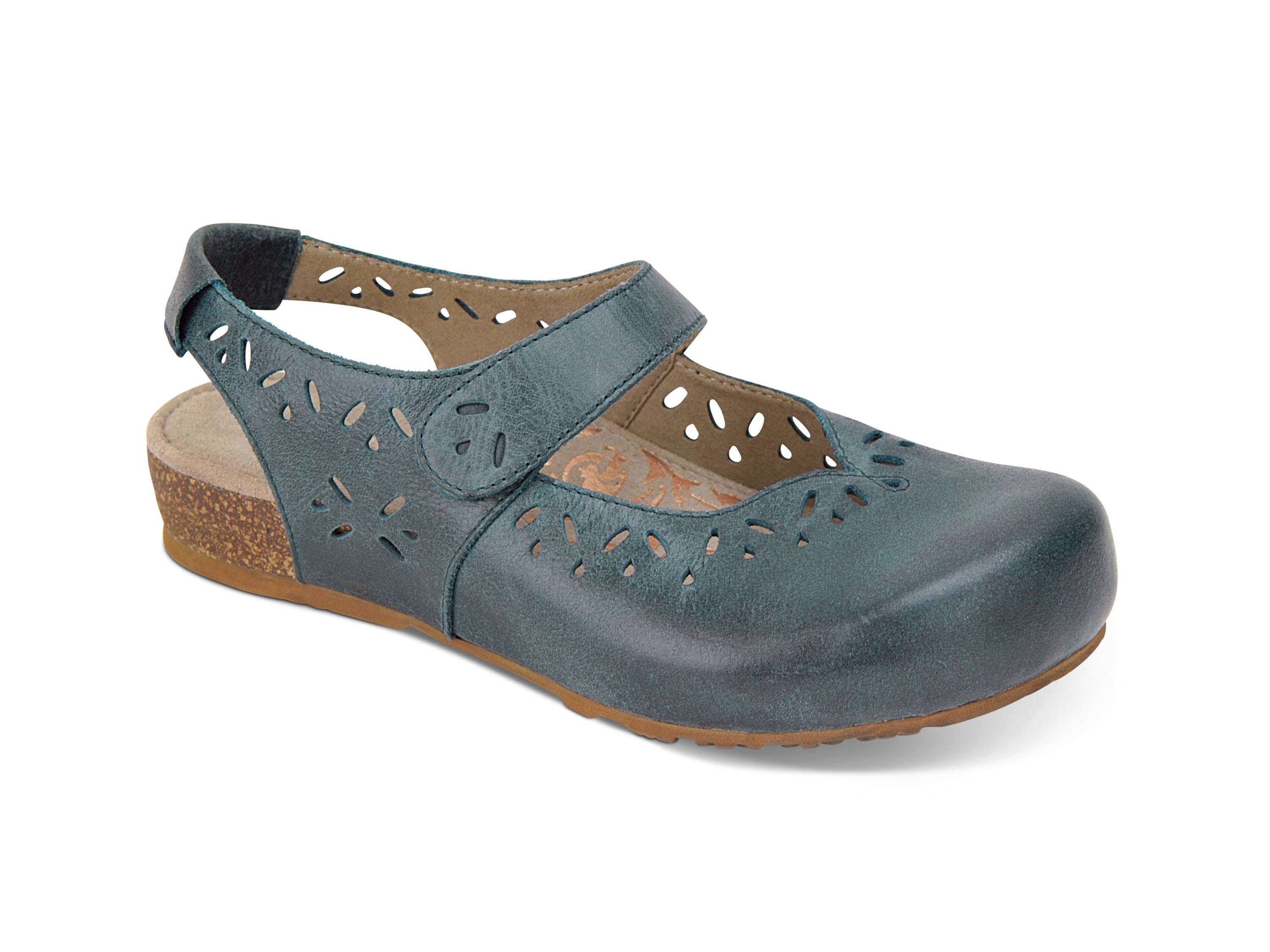 Aetrex Women's Cheryl Mary Jane, Blue