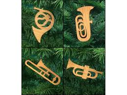 Brass Band Musical Instruments Christmas Ornament Set French