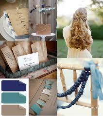 Outdoor Rustic Blue And Brown Wedding Color Ideas Trends For 2014