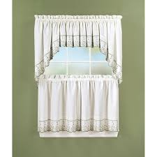 Abby Kitchen Tier Curtains Swag Pair Or Valance Sage