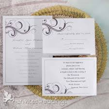 Simple Black And White Swirls Wedding Invitations IWI003