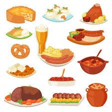 deutsches essen traditionelle küche mit deutschen und