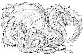 Chinese Dragon Coloring Pages Free Realistic For Adults
