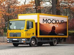 100 Free Truck Mockup PSD