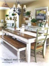 Farmhouse Dining Room Ideas Table With Chairs Chair Covers Bench Di