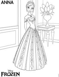 Click To See Printable Version Of Frozen Anna Coloring Page