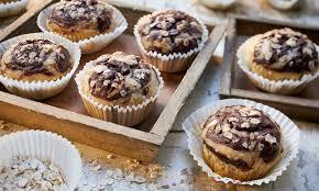 vegane marmor muffins mit banane und haferflocken
