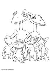 Dinosaur Family Coloring Picture To Print Ddinosaur Train Page