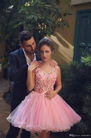 2017 younthful pink homecoming dresses 2017 sleeveless 3d hand