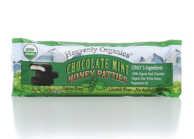 Heavenly Organics Honey Patties - Chocolate Mint