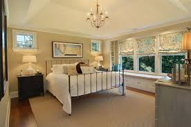Traditional Master Bedroom With Metal Bed Frame Ideas