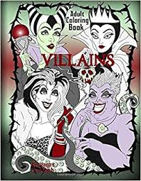 Amazon Disney Villains Adult Coloring Book 9781544749754 Counsel Publishing Books