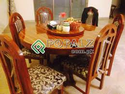 Round Dining Table Almost New Condition 10 6 Chairs Home Furniture In Rawalpindi Pakistan