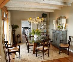 Shabby Chic Dining Room Hutch by Rustic Buffet Table Dining Room Shabby Chic Style With Blue Hutch
