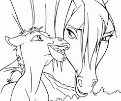 Excellent Spirit Horse Coloring Pages Stallion Of The Cimarron Free Rain Page